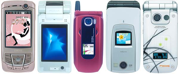 DoCoMo Announces Five New 3G Wallet Phones