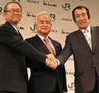 President Nakamura, NTT DoCoMo Inc., President Otsuka, JR East, President Ando, Sony